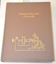 1980 Horological Shop Tools Book 1700 - 1900, Theodore R. Crom: Printed by Storter Printing Co.. The book is in good condition. (There is no dust cover on the book.) Sells as is, where is.