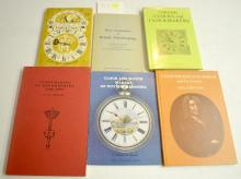 6 Reference Books on English Clockmakers and Clocks: 4 are  hardbound and 2 are softbound. Please see the photos for titles. All are in good condition. All sell as is, where is.