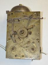 Antique Double Fusee Bell Strike Clock Movement; Brass Plates; Cord Fusee. Completeness not known. Please view photos. Not tested. Sell as is, where is.