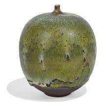 """Rose Cabat (1914-2015) Feelie vase 3""""dia x 3 3/4""""h"""