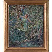 "James Edwin McBurney ""Nymph,"" c. 1940, oil on canvas"