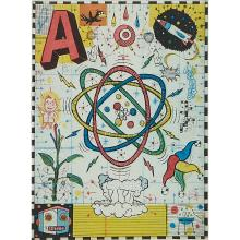 """Tony Fitzpatrick, (American, b. 1958), A from Max and Gaby's Alphabet, 1999, etching with aquatint, 7 7/8"""" x 5 7/8"""""""