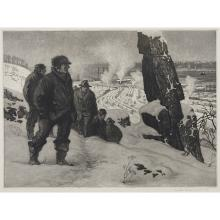 "Martin Lewis, (Australian/American, 1881-1962), Above the Yards, Weehawken, 1918, aquatint, 17 1/2"" x 23 3/4"""