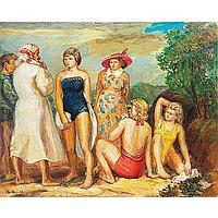 "Glen Ranney (American,1896-1959) ""The Bathers"", c."