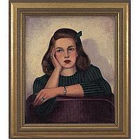 "Lawrence McConaha (American, 1894-1962) ""Woman in"