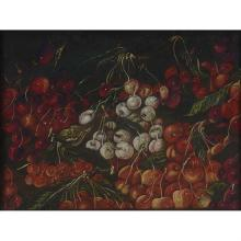 "Irene Siegel, (20th century), Cherry Moon, prismacolor and graphite, 19.25"" x 25.25"""
