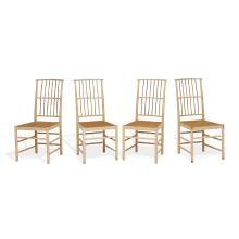 "Josef Frank (1885-1967) for Svenskt Tenn dining chairs, set of four, #2025 17""w x 24""d x 37""h"