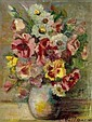 """Jeanne Rij-Rousseau (French, 1870-1956), """"Still Life with Flowers"""", c.1920; oil/canvas, 14"""" x 10"""","""