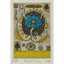 Tony Fitzpatrick, (American, b. 1958), Haikus, 1996 (five works): Night Lily, Witch Hazel, Old Planet, Spider Flower and Lightning B...