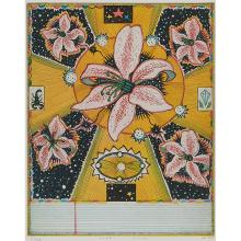 """Tony Fitzpatrick, (American, b. 1958), Star Lilies, 1997, color etching, 9 3/4"""" x 7 3/4"""""""