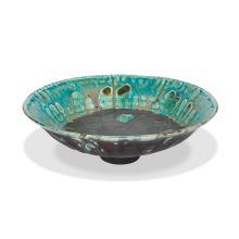 """Rose Cabat (1914-2015) bowl 8""""dia x 2 1/2""""h"""