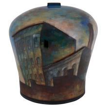 """Lidya Buzio, (Uruguayan/American, 1948-2014), Untitled, 1987, ceramic, 18""""h x 16""""w x 16""""d"""