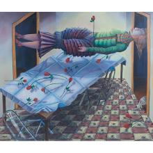 "Eleanor Spiess-Ferris, (American, b. 1941), Untitled, 1981, oil on canvas, 60"" x 72"""
