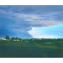 """James Butler, (American, b. 1945), Storm Clouds Passing, 1987, pastel on paper, 30"""" x 36"""""""