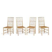 "Josef Frank (1885-1967) for Svenskt Tenn dining chairs, set of four, model 2025 17""w x 24""d x 37""h"