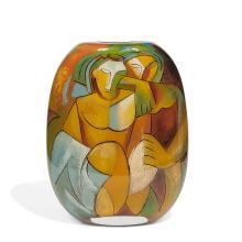 "Ada Loumani (b. 1959) Two Picassos vase 12""w x 5 1/2""d x 16""h"