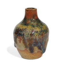 """Auguste Delaherche (1857-1940) miniature vase 2""""dia x 2 3/4""""h"""