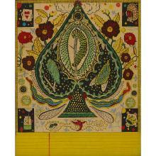 """Tony Fitzpatrick, (American, b. 1958), Emerald Spade, 1995, color etching and aquatint, 9 3/4"""" x 7 7/8"""""""
