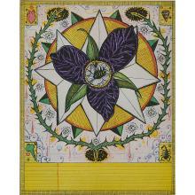 "Tony Fitzpatrick, (American, b. 1958), Star Trillion, 1997, color etching and aquatint, 9 3/4"" x 7 7/8"""