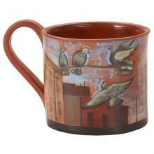 "Lidya Buzio, (Uruguayan/American, 1948-2014), Untitled (Cup), 1980, painted earthenware, 3.75""h x 4.5""w x 3.25""d"