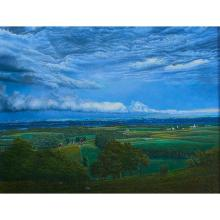 """James Butler, (American, b. 1925), An Evening Storm, 1989, pastel on paper, 40"""" x 52"""""""