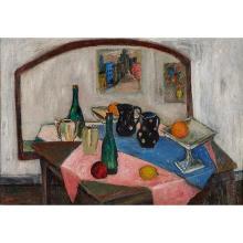 "Harry Shoulberg, (American, 1903-1995), Still Life, oil on canvas, 20"" x 28"""