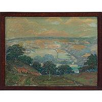 "James Edwin McBurney,""Landscape,"" 1927, oil"
