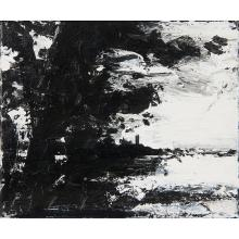 "John Virtue, (British, b. 1947), Landscape N. 538, 1998-1999, acrylic, ink and gouache on canvas, 10"" x 12"""