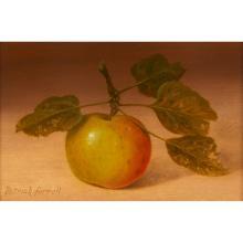 "Patrick Farrell, (American, 1940-2016), Apple Still Life, 2003, oil on panel, 4"" x 5 3/4"""