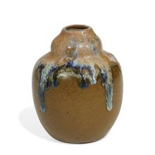 """Auguste Delaherche (1857-1940) vase 3 1/2""""dia x 4 1/4""""h"""