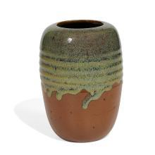 """Auguste Delaherche (1857-1940) vase, shape number 5817 5""""dia x 7""""h"""