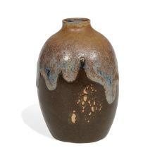 """Auguste Delaherche (1857-1940) vase 4 1/4""""dia x 6""""h"""