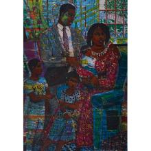 "Louis Delsarte, (American, b. 1944), Unity, 1995, color lithograph on wove paper, 28.5"" x 21.5"""