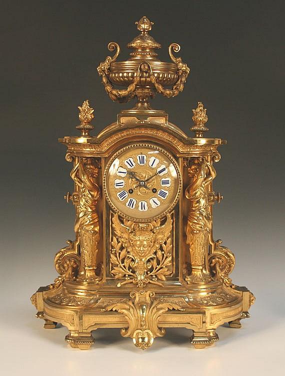 A late 19th Century French ormolu mantel clock