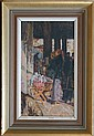 Rita Greig - 'Totnes Market', 20th Century oil on