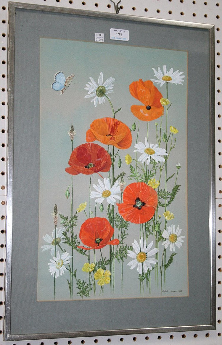 Michelle Emblem - Poppies, watercolour, signed and