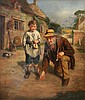 John Wells Smith - Man and Boy playing Marbles, John Wells Smith, Click for value