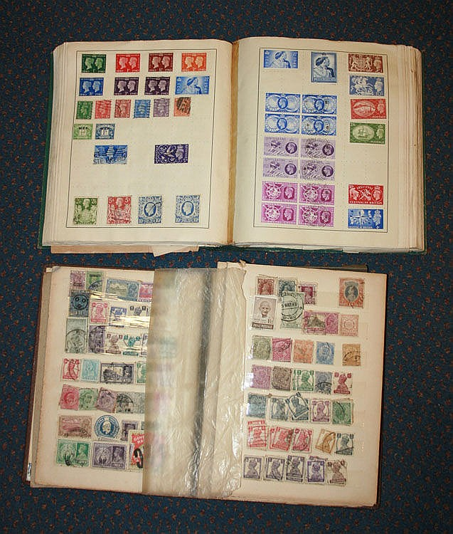 Philatelic : Two albums of word stamps, including