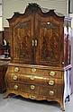 An 18th Century Dutch figured mahogany