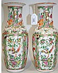 A pair of Chinese Canton famille rose porcelain