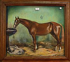 Alfons Purtscher - Study of a Racehorse in a