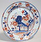 A Chinese Imari export porcelain circular dish,