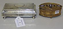 An Edwardian silver rectangular trinket box of
