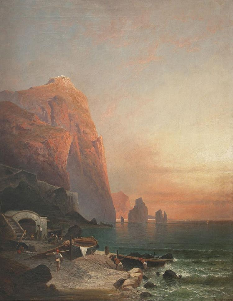 F. Unterberger and studio - Coastal View, probably