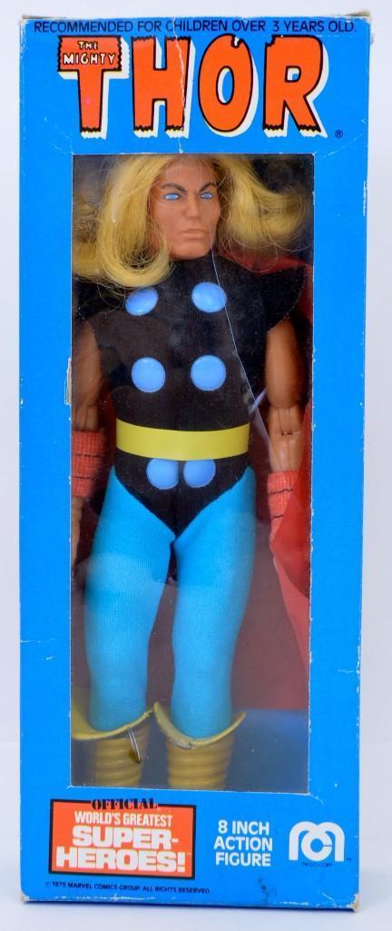 Nice Vintage Mego WGSH Thor action figure in original box Type 2