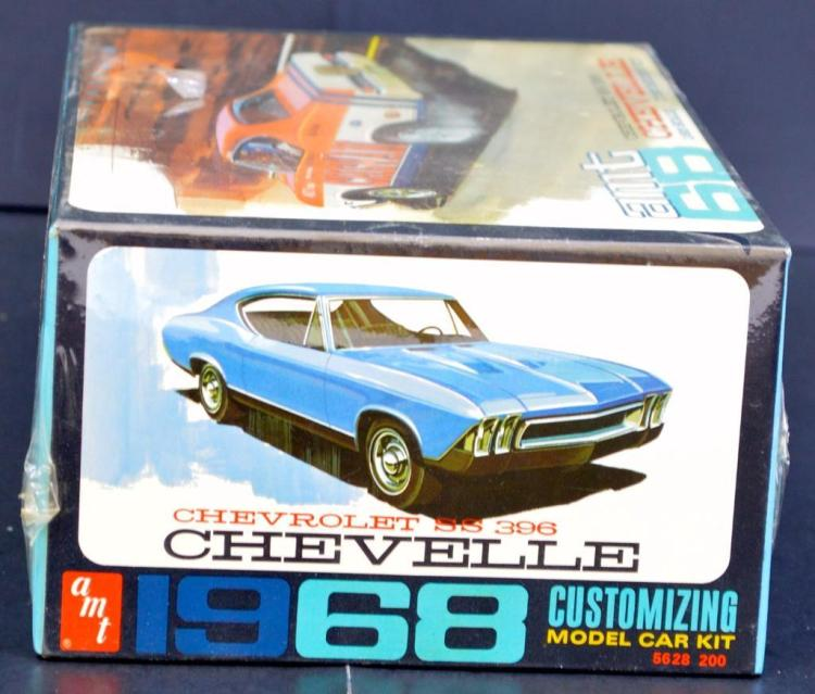 Rare mint sealed AMT 1968 Chevelle SS 396 1/25 scale model kit 5628
