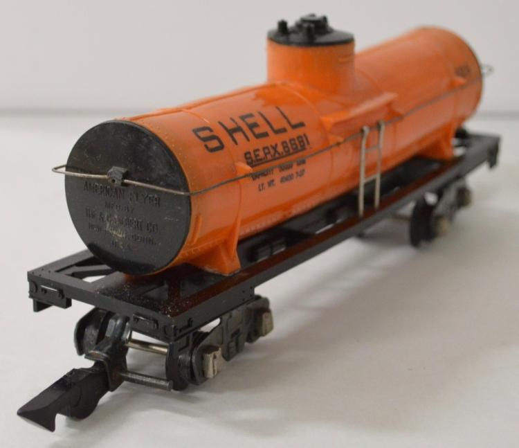 Scarce American Flyer postwar S gauge 625 ORANGE Shell tank car