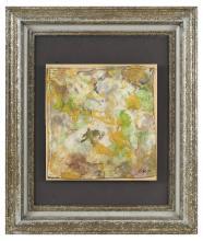 Georges HUGNET (1904-1974) Composition, 1971 Huile sur toile marouflée sur