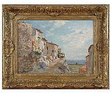 Edmond Marie PETITJEAN (1844-1925) Antibes Huile sur toile signée en bas à