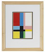 Étienne BEÖTHY (1897-1961) Composition, 1938 Gouache sur papier monogrammée